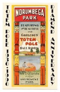 Advertisement for Norumbega Park's Totem Pole Ballroom, via Wikimedia commons.