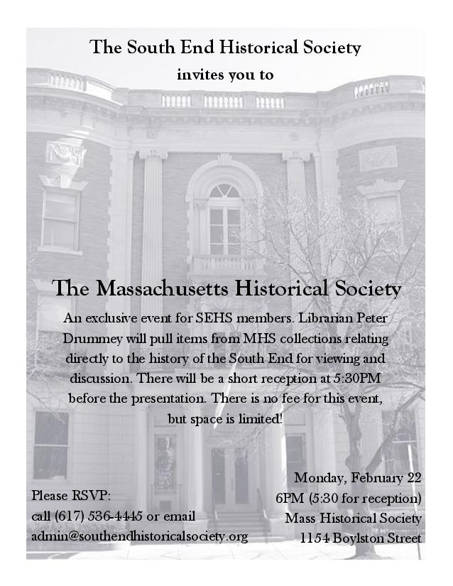 A Night at the Massachusetts Historical Society @ The Massachusetts Historical Society | Boston | Massachusetts | United States