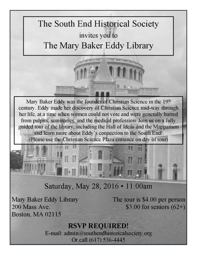 Mary Baker Eddy Library Tour @ Mary Baker Eddy Library | Boston | Massachusetts | United States