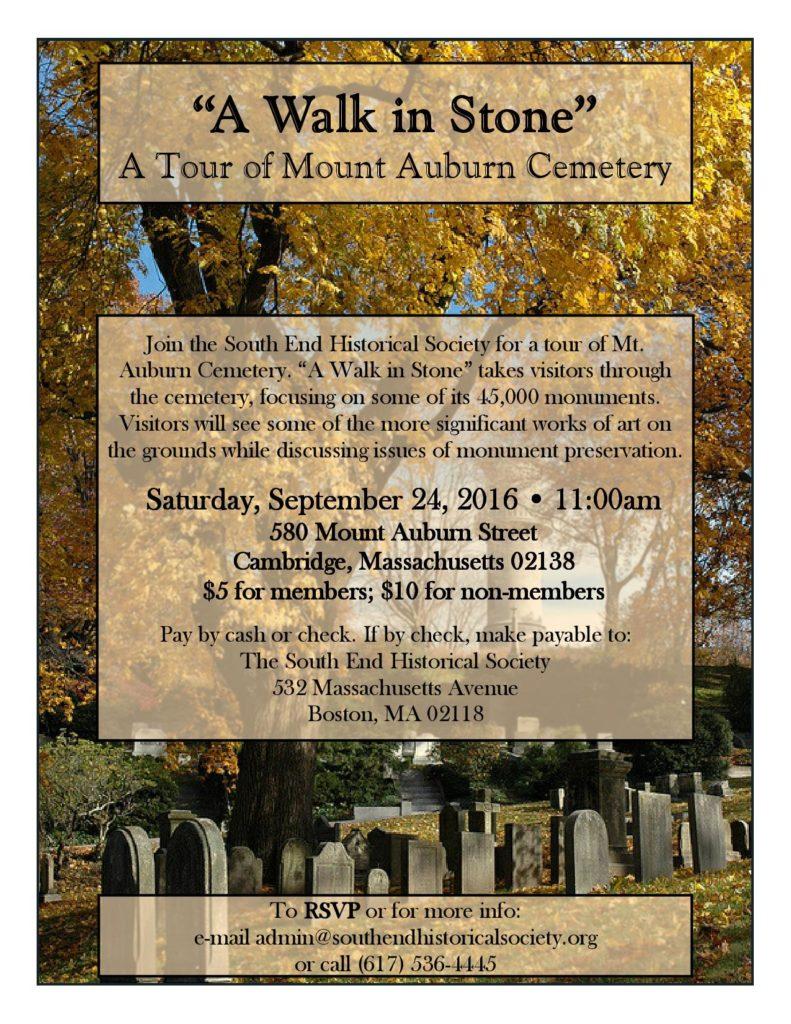 Mt. Auburn Cemetery Walking Tour @ Mount Auburn Cemetery   Cambridge   Massachusetts   United States