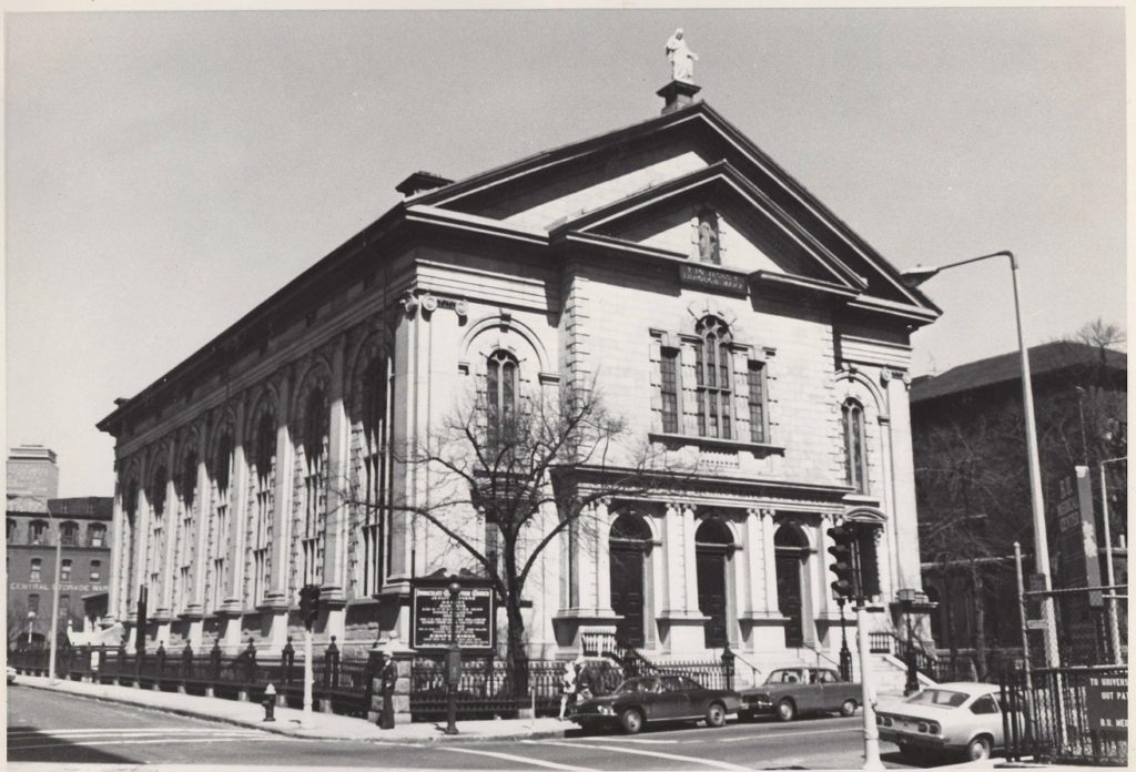 Immaculate Conception Church, 1973. (Photo property of the South End Historical Society)